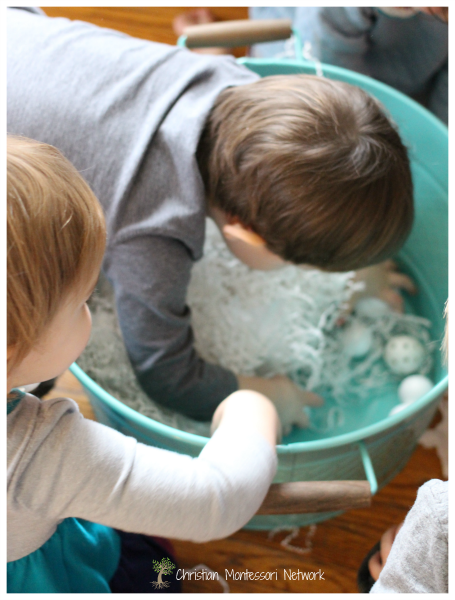 Exploring texture is an important sensory activity for toddlers