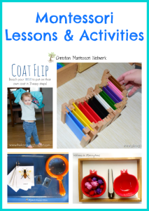 Montessori Lessons and Activities {Learn & Play Link Up}