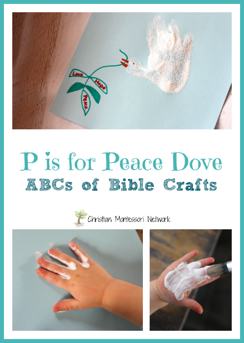 P is for Peace Craft - a simple handprint craft to try with your kids after reading about Noah's Ark. A simple craft that includes even the youngest members of your family or Sunday school