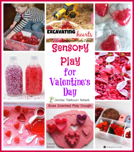 Sensory Play for Valentine's Day {Learn & Play Link Up}