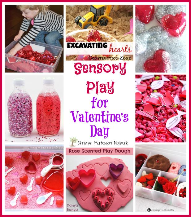 Sensory Play for Valentine's Day on ChristianMontessoriNetwork.com