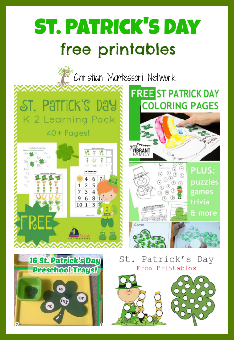 St. Patrick's Day - ChristianMontessoriNetwork.com