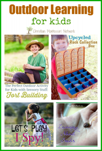 Outdoor Learning for Kids {Learn & Play Link Up}
