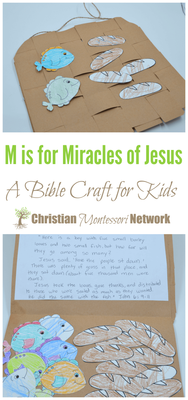 M is for Miracles of Jesus, an ABCs of the Bible Crafts for Kids.