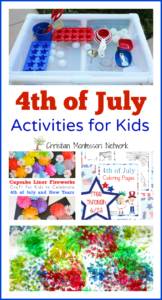 4th of July Activities for Kids {Learn & Play Link Up}