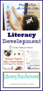 Literacy Development {Learn & Play Link Up}