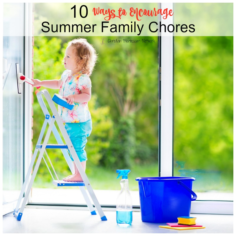 Summertime is a great time to play and learn! Use this summer to help your family learn more about family chores and helping others on ChristianMontessoriNetwork.com