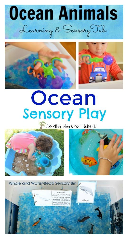 Ocean Sensory Play - ChristianMontessoriNetwork.com