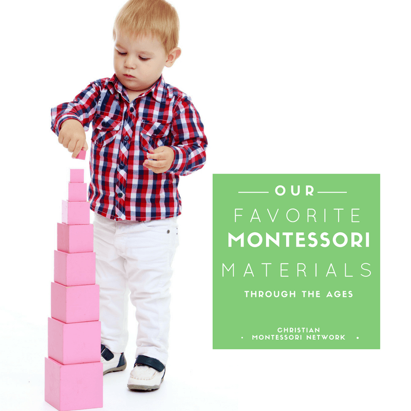 Our favorite Montessori Materials through the ages.