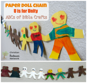 Paper Doll Chain Unity Bible Craft