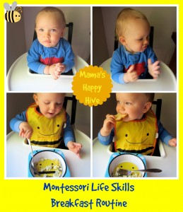 Montessori routine examples from Mama's Happy Hive helps manage discipline on ChristianMontessoriNetwork.com