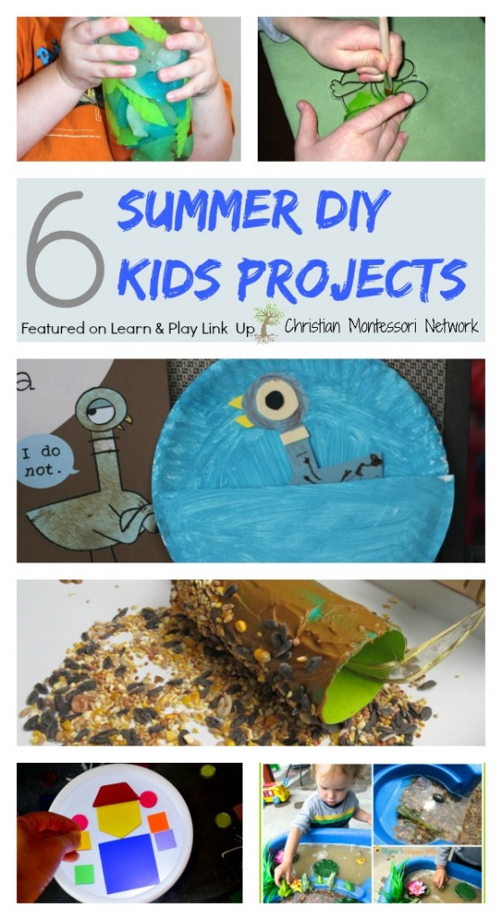 6 Summer DIY Kids Projects on ChrisitianMontessoriNetwork.com