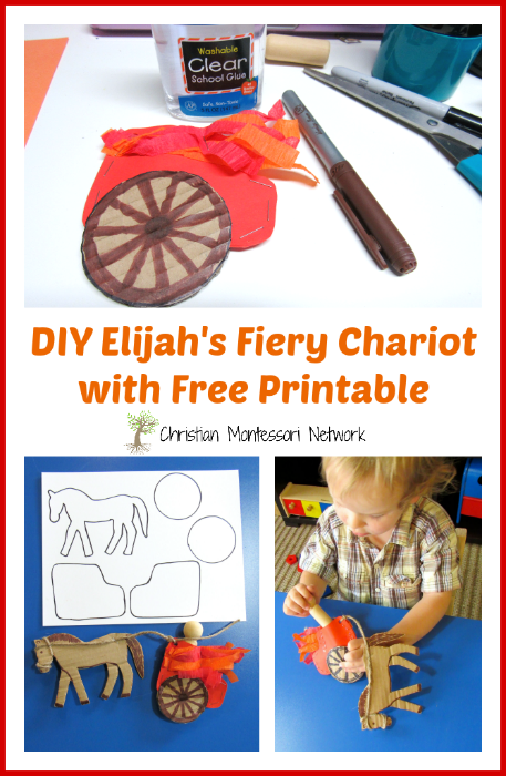 E is for Elijah's Fiery Chariot - Christian Montessori Network
