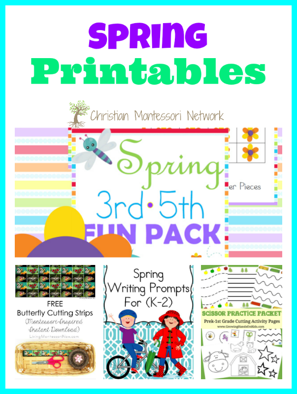 Spring Printables - www.christianmontessorinetwork.com