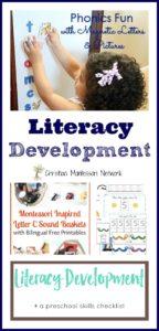 Literacy Development {Learn & Play Link Up}