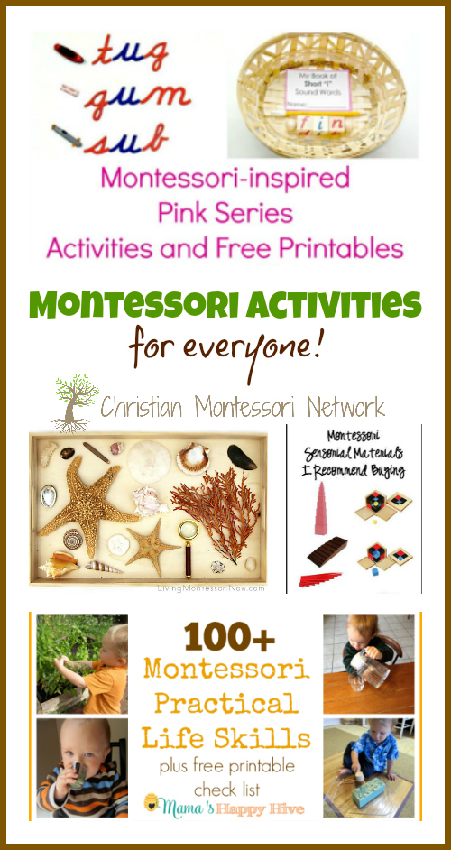 Montessori Activities - www.christianmontessorinetwork.com