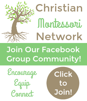 Christian Montessori Network on Facebook!