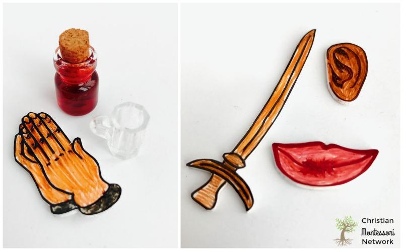 DIY Easter Resurrection Miniatures on Christian Montessori Network