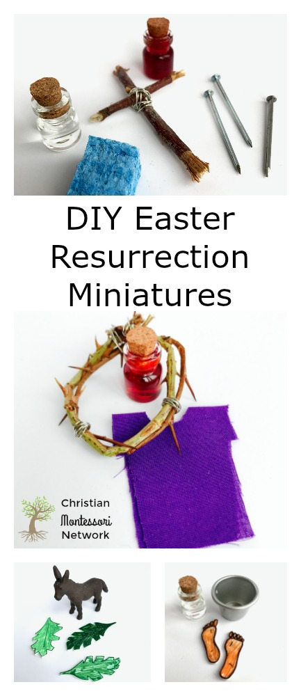 The resurrection is WHY we are Christians and it's a true joy to pass on the lesson to our children. Use these DIY Easter Resurrection Miniatures to create a Montessori-Inspired lesson for your homeschool and church preschool.